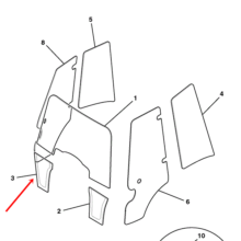 (W) (P) GLASS RH 1/4 LIGHT TINTED~BHL P2