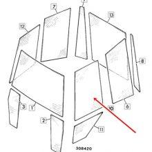 Горно стъкло –Лява  врата JCB 2CX