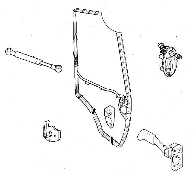 Ключалка врата за NEW HOLLAND 115