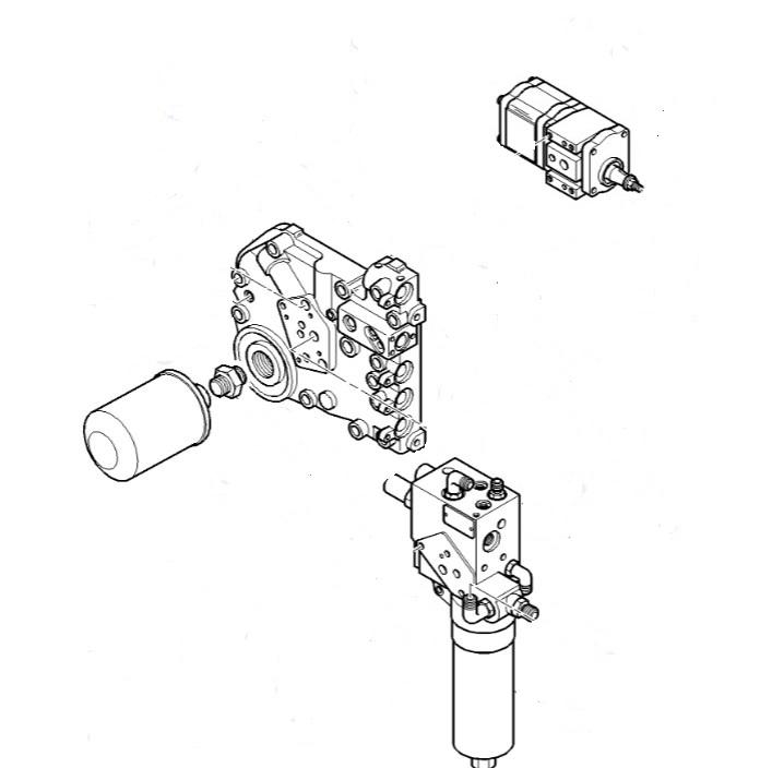 Тяло хидравличен филтър за CLAAS