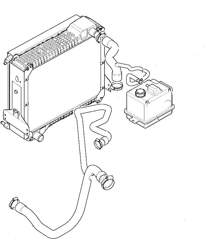 Маркуч воден радиатор за NEW HOLLAND 115