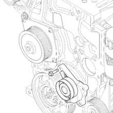 Обтяжна ролка двигател за BOBCAT TR