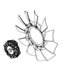 Вискосъединител перка радиатор за CLAAS