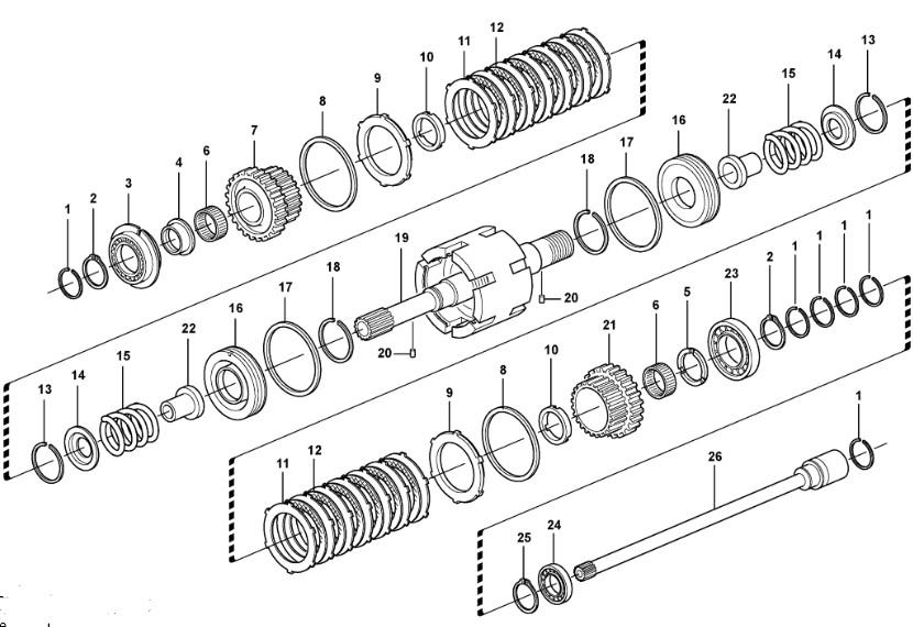 Метални дискове съединител за JCB 1CX