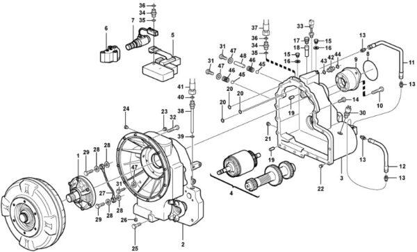 Хидросъединител на скоростна кутия за BOBCAT TR