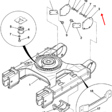 COVER -TRACK MOTOR