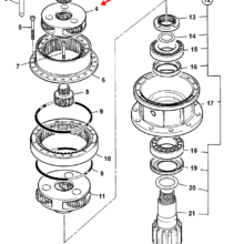 GEAR, REDUCTION ASSEMBLY - SWING GEARBOX