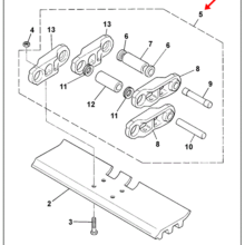 CHAIN, ASSEMBLY - 50 LINK