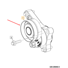 AUTOTENSIONER - SOLID PULLEY(old 08651)